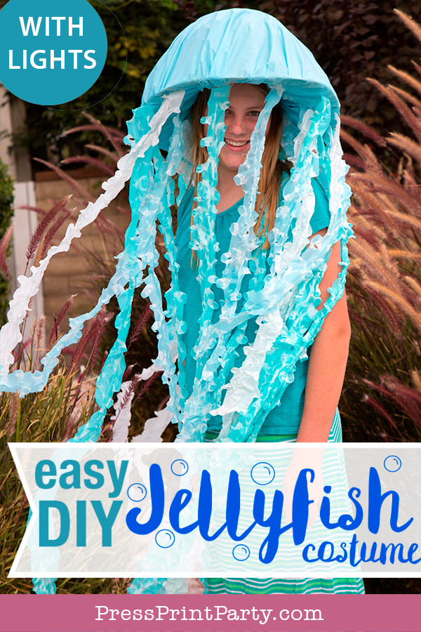 Easy DIY Jellyfish Costume DIY - Press Print Party!