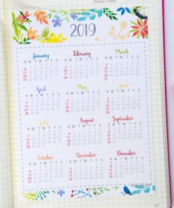 2019 mini calendar printable for bullet journal and planners - at a glance calendar - Press Print Party!