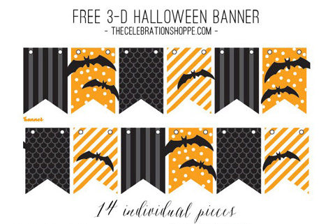 photograph regarding Printable Halloween Banners named 135+ Free of charge Halloween Bash Printables (Decor Snacks