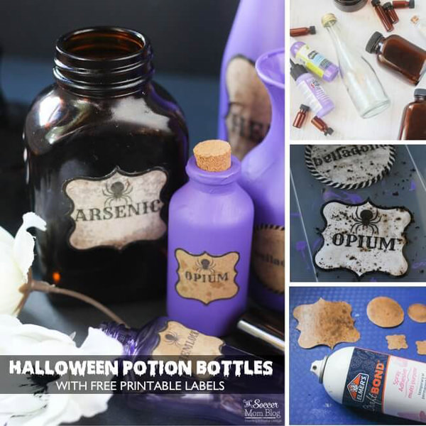 Free Halloween Printables - jar labels - List by Press Print Party!