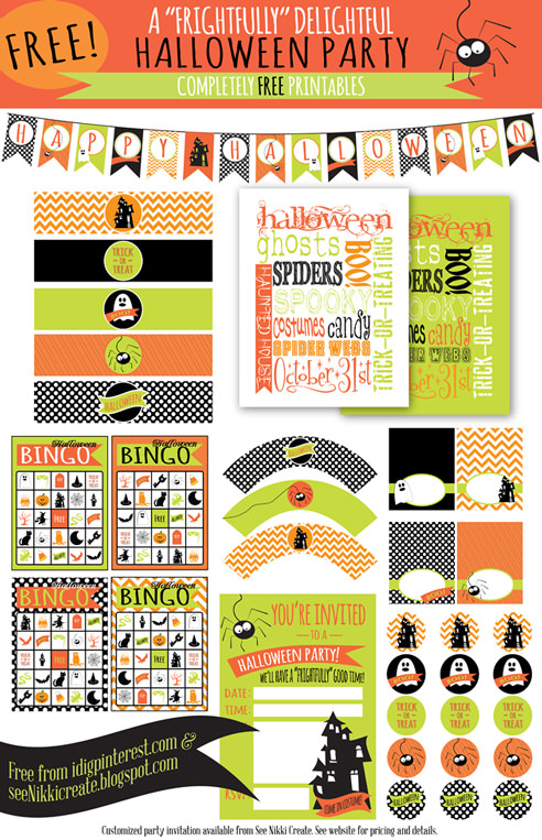 Free Halloween Printables - party printables - List by Press Print Party!