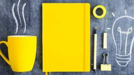 Yellow journal. How to start your bullet journal the right way - Press Print Party!