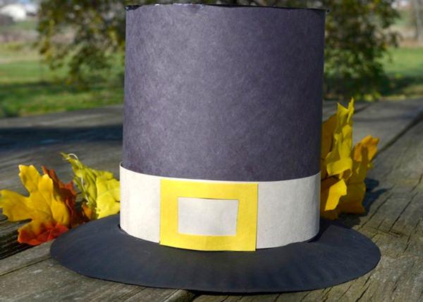 Paper pilgrem boy hat - free template