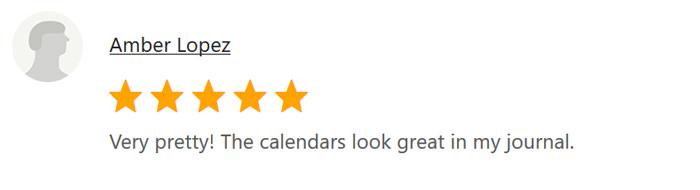Calendar Review 7