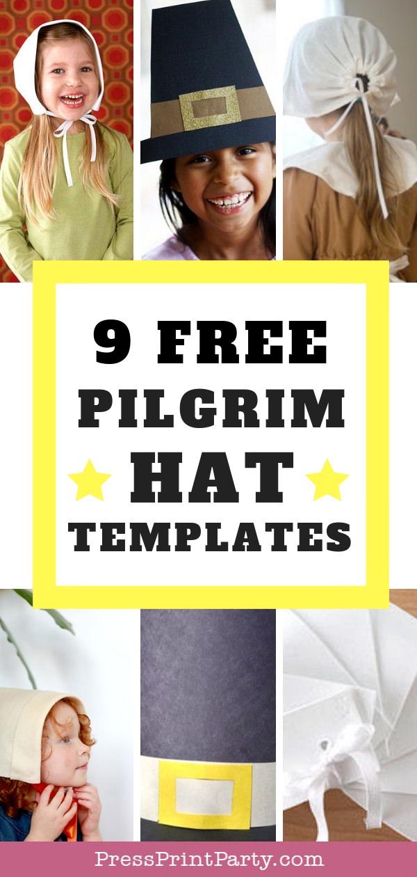 9 free pilgrim hat template printables press print party