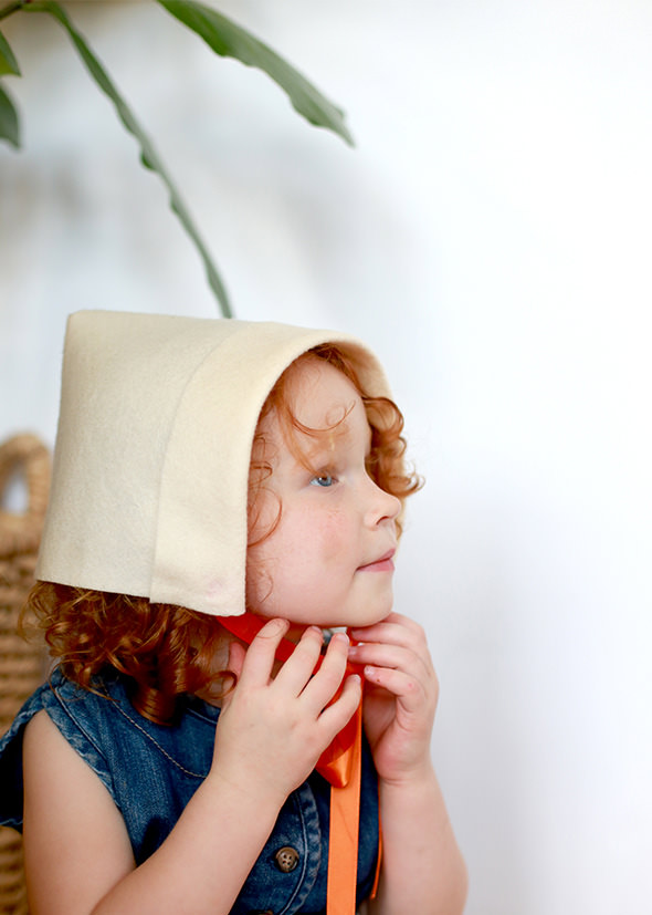 This is an image of Accomplished Pilgrim Bonnet Template Printable