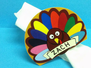 Thanksgiving napkin rings place cards