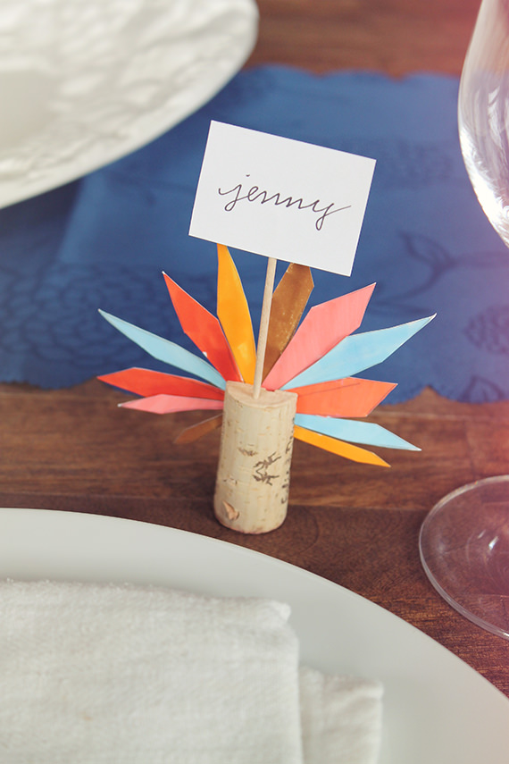 Turkey Thanksgiving place card craft diy