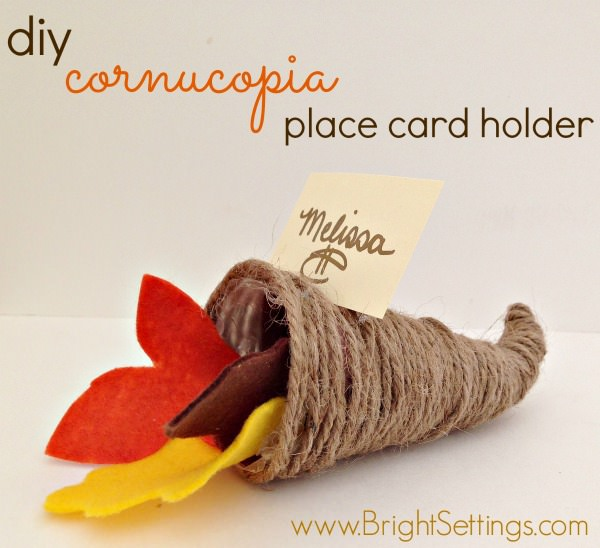 diy cornucopia place card holders craft
