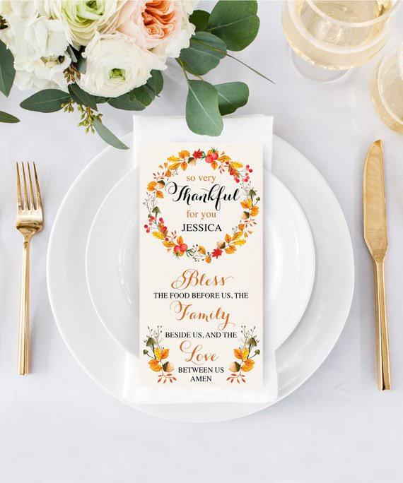 Printable place cards on etsy editable