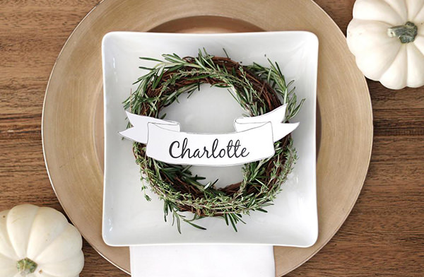 ribbon editable place cards etsy