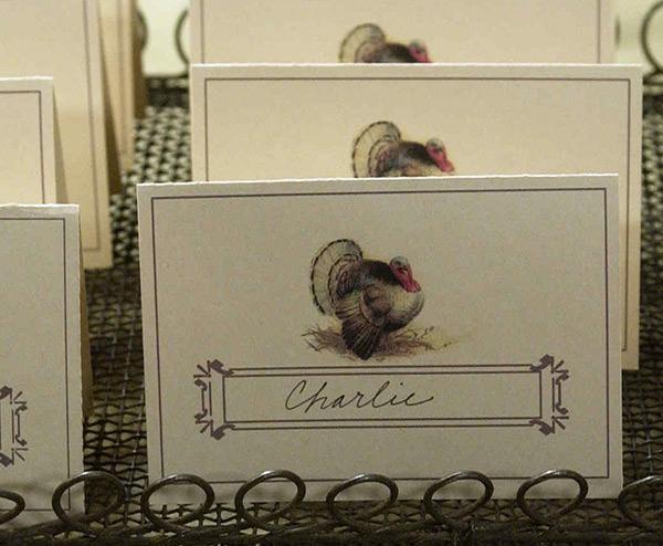 Turkey Thanksgiving place card printable
