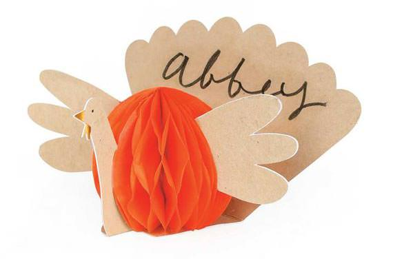 Turkey Thanksgiving place card