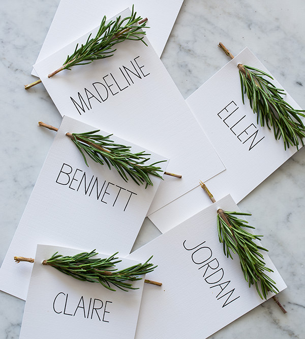 Rosemary editable thanksgiving palce cards