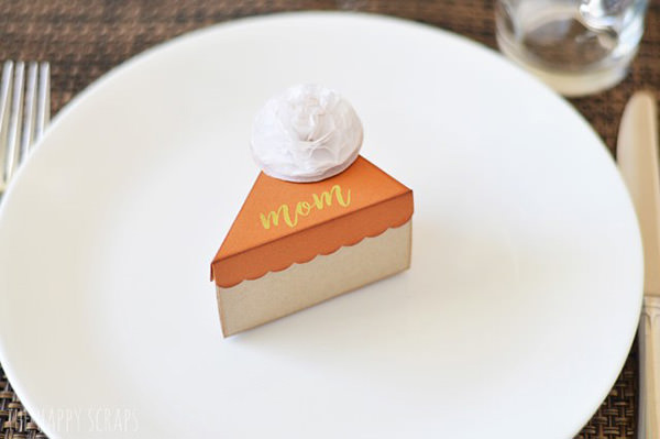 pie box craft thanksgiving place card free