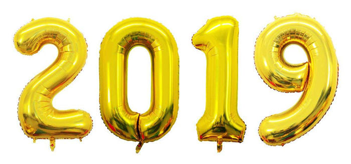 2019 Balloons gold