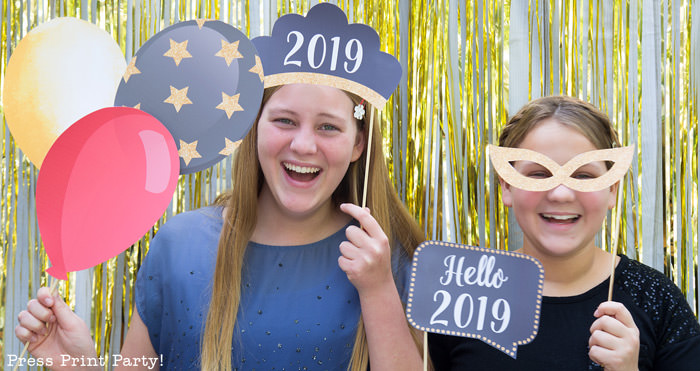 48 New Year's Eve Photo Booth Props You can Download Today