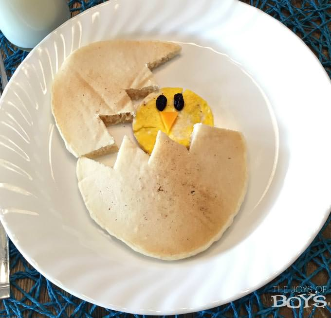Adorable Easter Treats - Chick in pancake - Press Print Party!