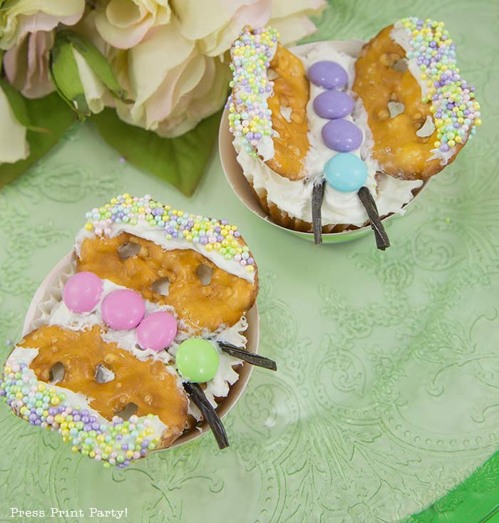 Adorable Easter Treats - butterfly cupcakes - Press Print Party!