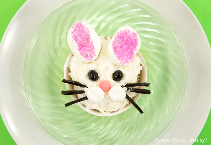 Adorable Easter Treats - bunny cupcake - Press Print Party!