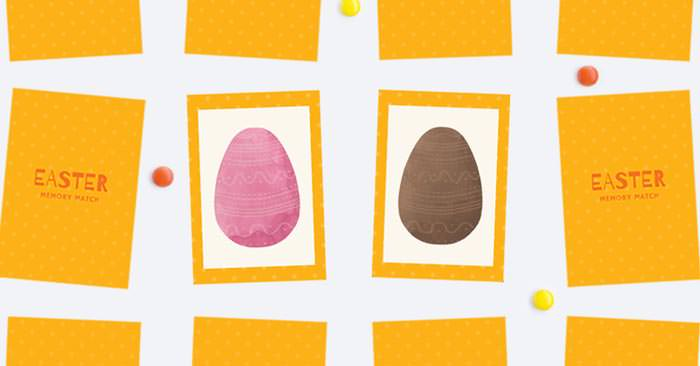 Easter free printable memory game