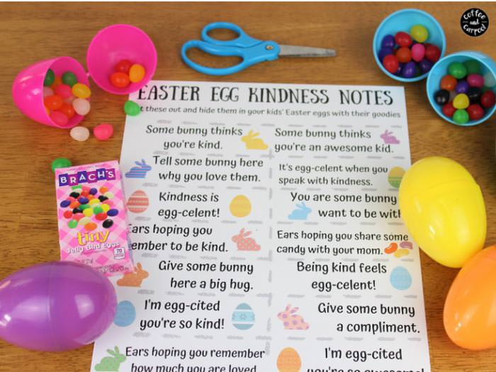Easter free printable kindness notes