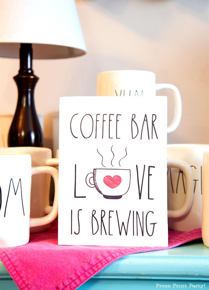coffee bar wooden sign diy farmhouse love is brewing