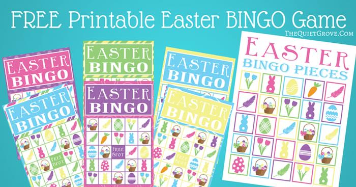 Easter free printable games bingo