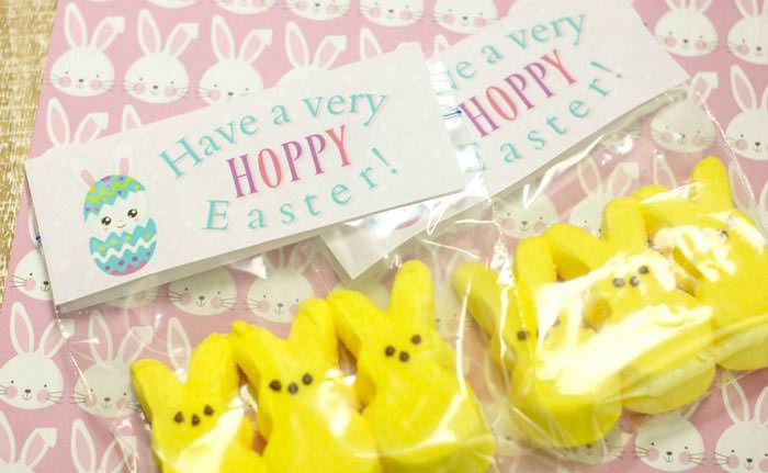 Easter free printable treat bag topper