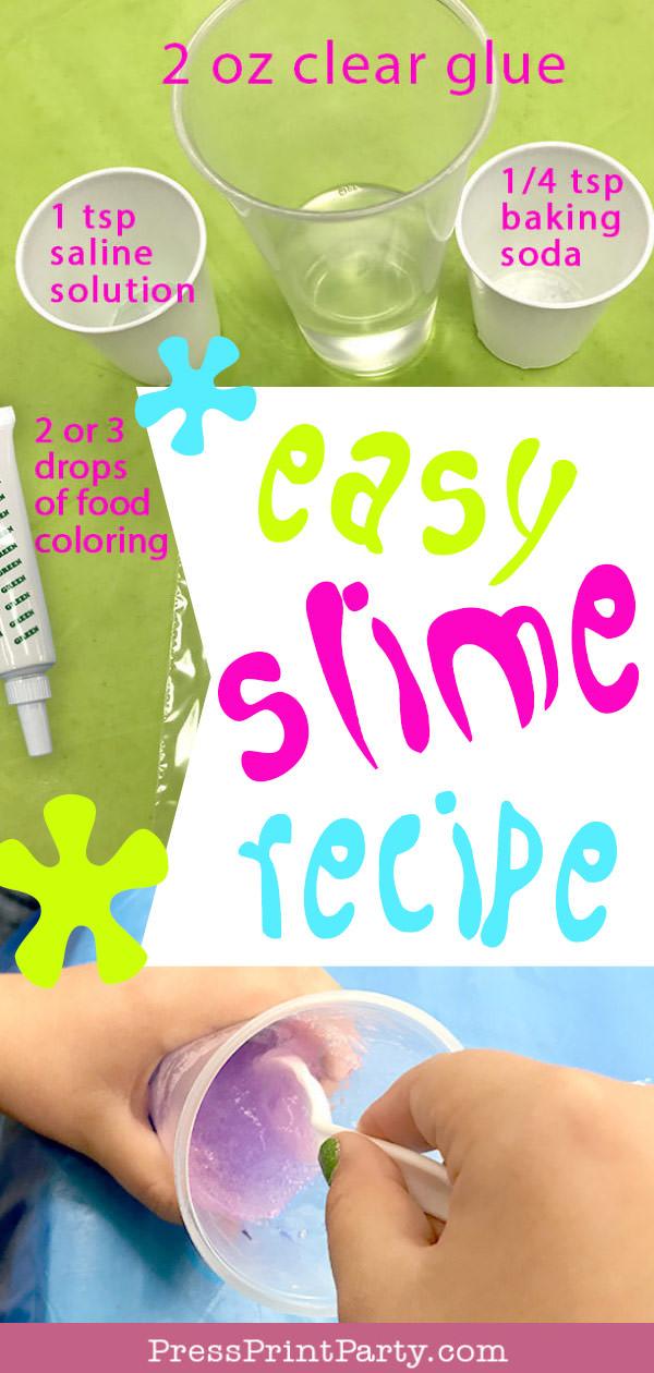 easy slime recipe pin