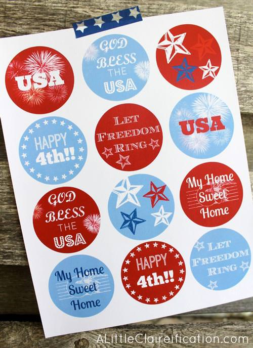 Free 4th of july tags
