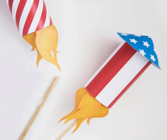 Free 4th of july printables rockets craft