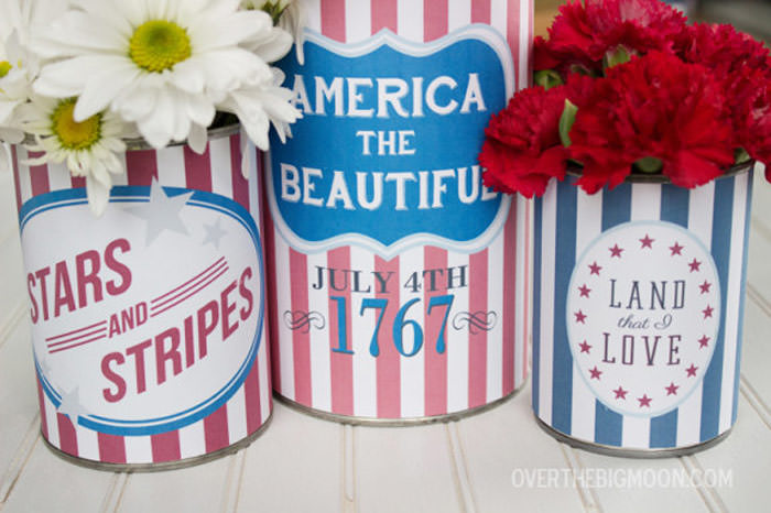 Free 4th of july printable can wrappers
