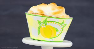 lemon meringue cupcakes recipe with lemon filling - easy homemade from scratch best dessert - free lemon cupcake wrapper - Press Print Party!