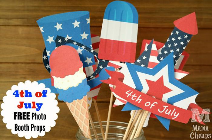 Free 4th of july photo booth props