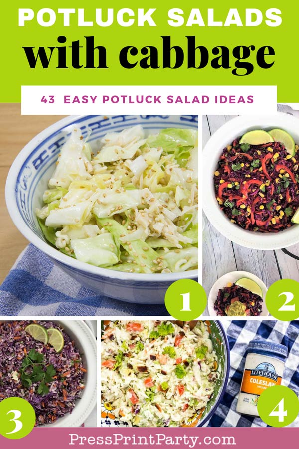 Potluck salads with cabbage- 43 potluck salad ideas