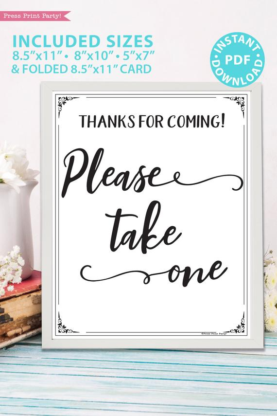 photograph about Please Take One Sign Printable called Be sure to Choose Just one Signal Printable, Rustic