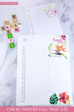2020 Daily trackers, daily routine, bujo habit tracker, 2020 printable calendar template, 2020 monthly calendar printable, bujo ideas, 2020 year planner printable, for bullet journals or household binders, A5 planner, pdf, bujo, instant download, Bullet Journal Printable, Monthly Planner supply, bullet journal ideas, bujo ideas, bullet journal monthly layout for beginners, bujo supplies, January, february, march, april, may, june, july, august, september, october, november, december.Press Print Party! Beautiful watercolor design