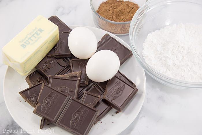 Ingredients for French Chocolate Truffles recipe - How to make chocolate truffles - Press Print Party!
