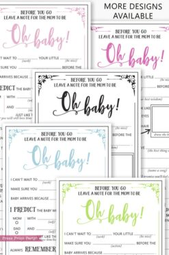 baby shower mad libs advice cards rustic in 5 colors. Press Print Party!