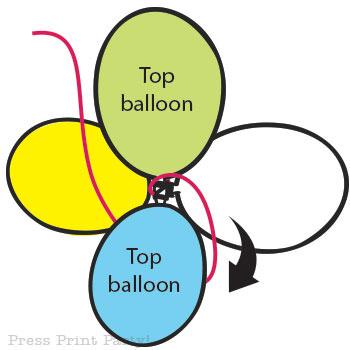 Organic Balloon garland diy tutorial step4 - Press Print Party!