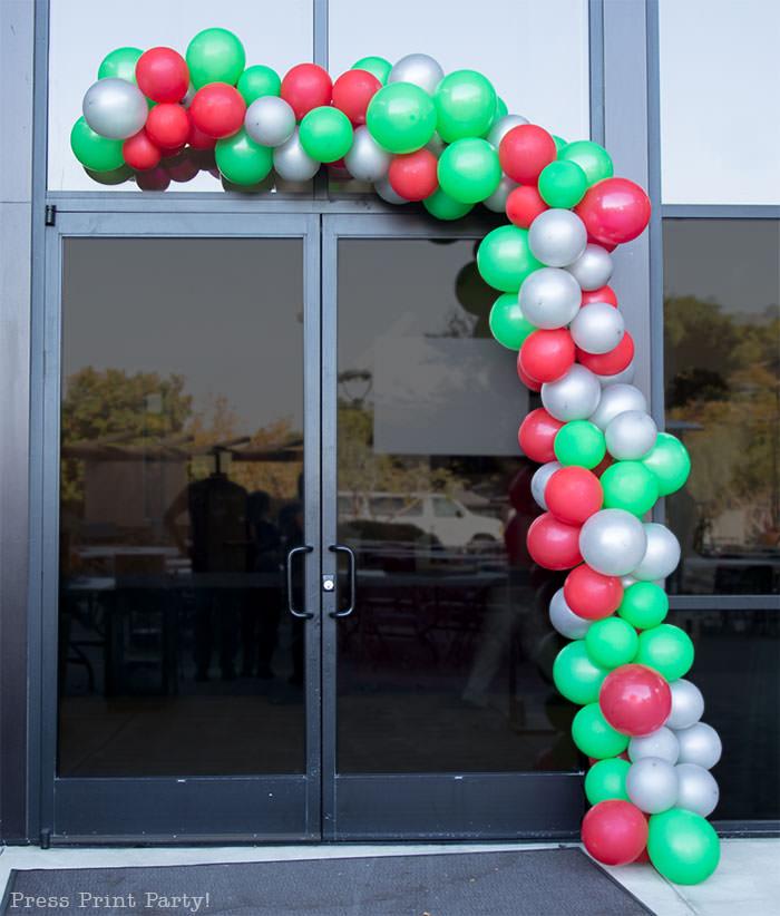 organic balloon garland diy tutorial how to make Christmas balloon garland basics. Press Print Party