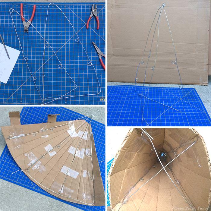 Making the frame gnome pinata