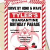 quarantine birthday invitation lime red and white - Press Print Party!