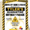 quarantine birthday invitation Yellow and black - Press Print Party!