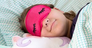 girl in bed with a sleep mask diy with eyelashes free svg