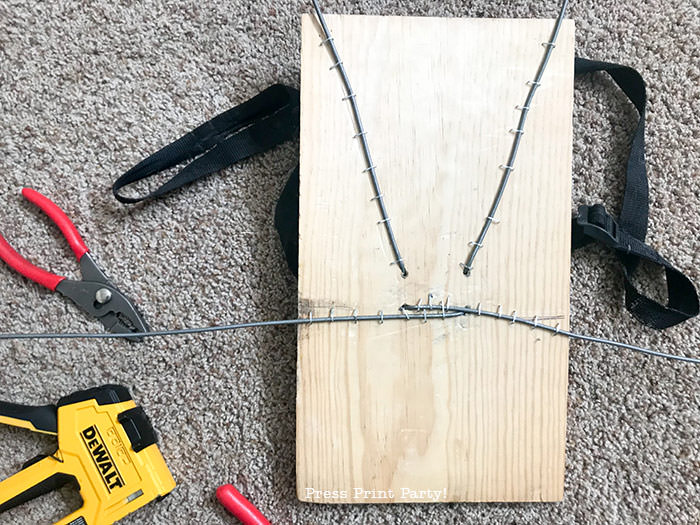 Spider costume backpack rig with wood - Press Print Party!