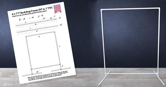 PVC frame backdrop schematics - Press Print Party