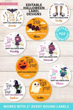 9 Halloween label stickers 9
