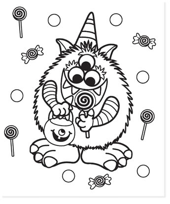 free halloween printable coloring sheets - website roundup - monster coloring page